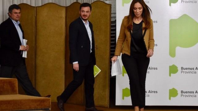 Santiago López Medrano, Andrés Scarsi y María Eugenia Vidal.