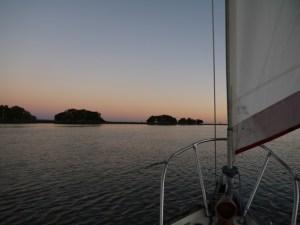 Tranquility sailing near Sapelo Island, GA