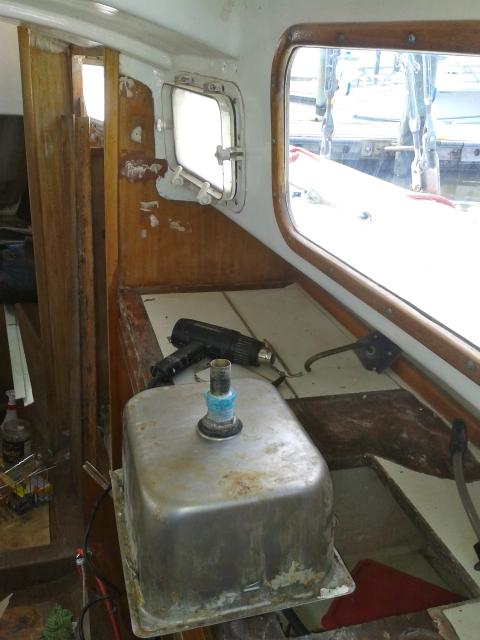 Refurbishing the galley