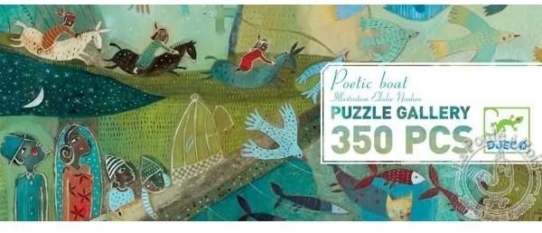 Puzzle Gallery Poetic Boat 350 pièces - Djeco