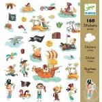 Stickers pirates bateau coffre trésor palmiers - Djeco