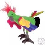Peluche gant marionnette perroquet