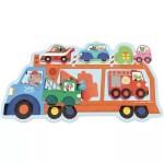 Puzzle Encastrement transport - Vilac