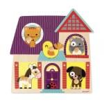 Puzzle musical maison animaux - Janod