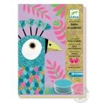 Sables colorés avec paillettes éblouissants oiseaux - Djeco