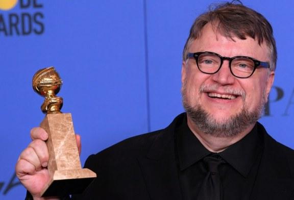 Le réalisateur mexicain Guillermo Del Toro rencontre un succès monstre aux Golden Globes ! (Video)