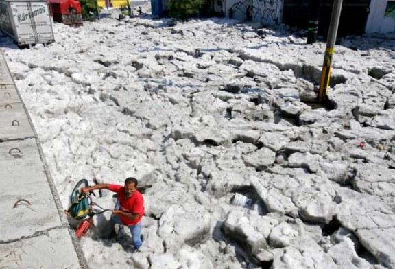 Insolite – La ville de Guadalajara sous la glace ! (Video)