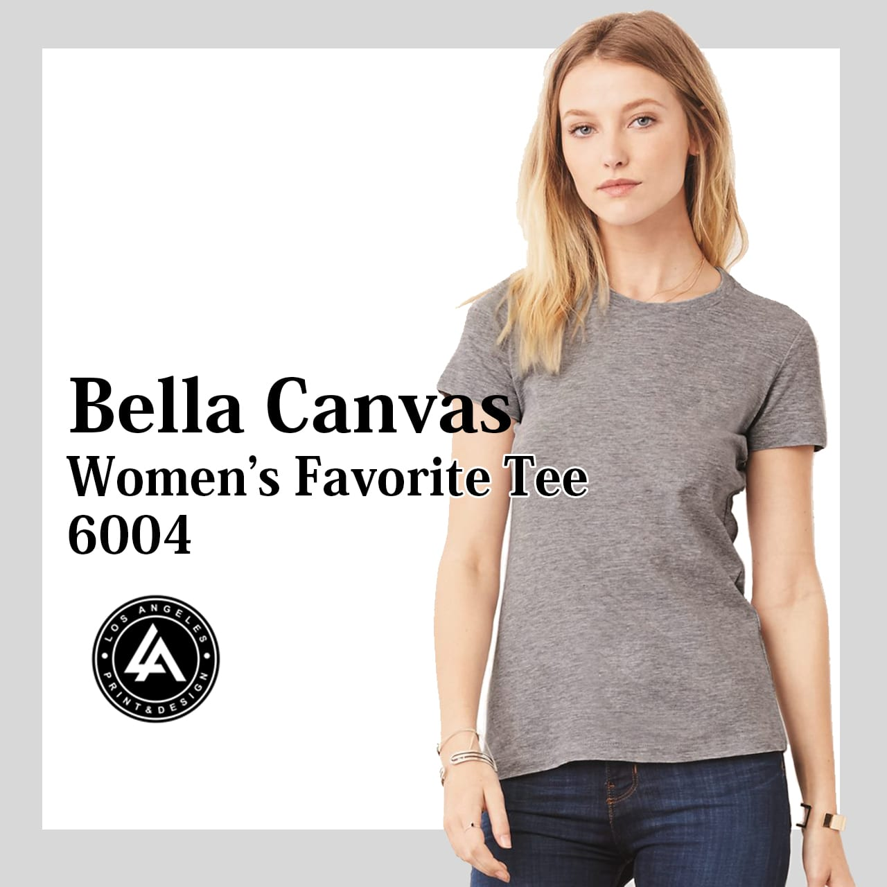 8171733e The sister to the Bella Canvas 3001, this premium women's tee shirt known  as the Bella Canvas 6004 is super soft and fashionable.