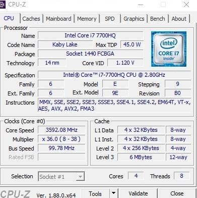 Core i7-7700HQ