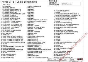 Lenovo Thinkpad T470S Schematic & Boardview, LCFC Thorpe2 UMA NMB081 – Laptop Schematic