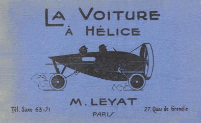 Brochure della Hélica di Leyat, 1921