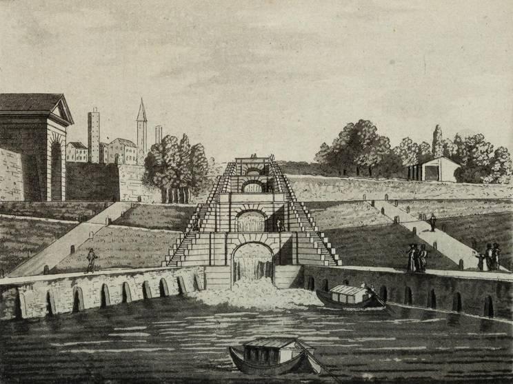Chiuse sul naviglio a Pavia