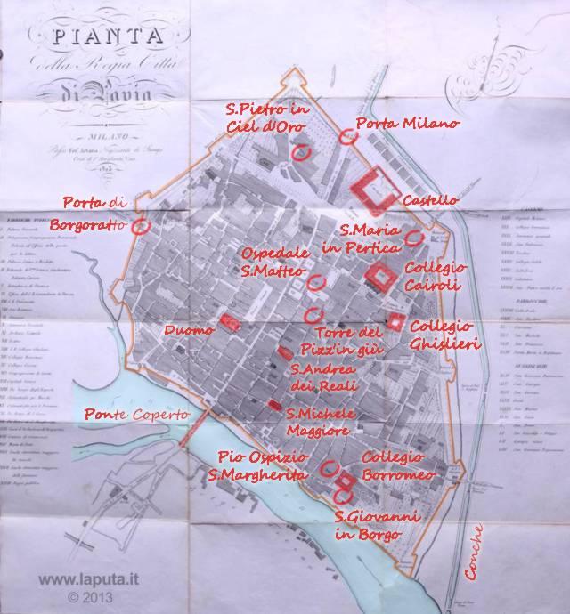 Regia città di Pavia 1823
