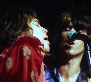 Mick Jagger (left) and Keith Richards (right) in June 1972