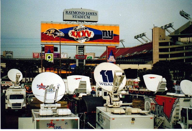 Super Bowl XXXV Broadcast Compound