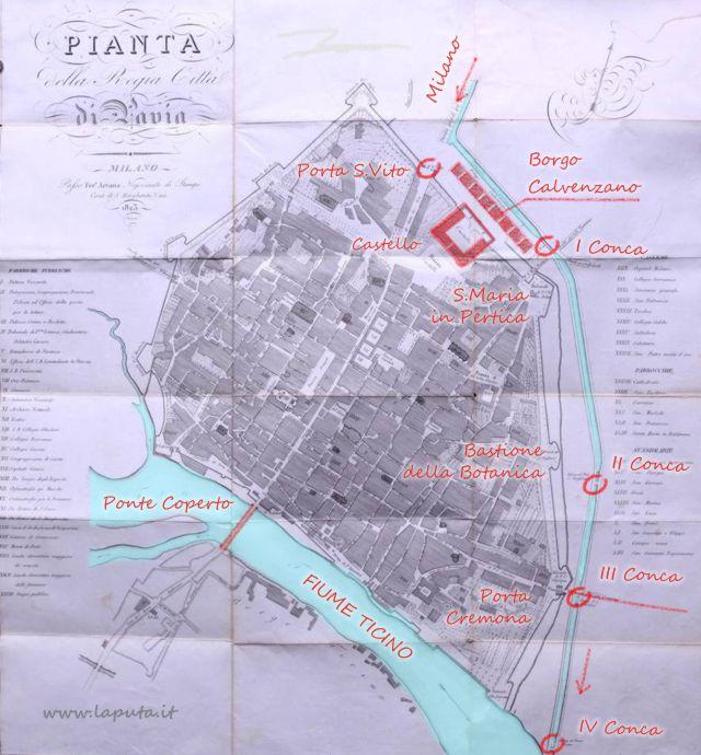 Naviglio Pavese mappa 1823