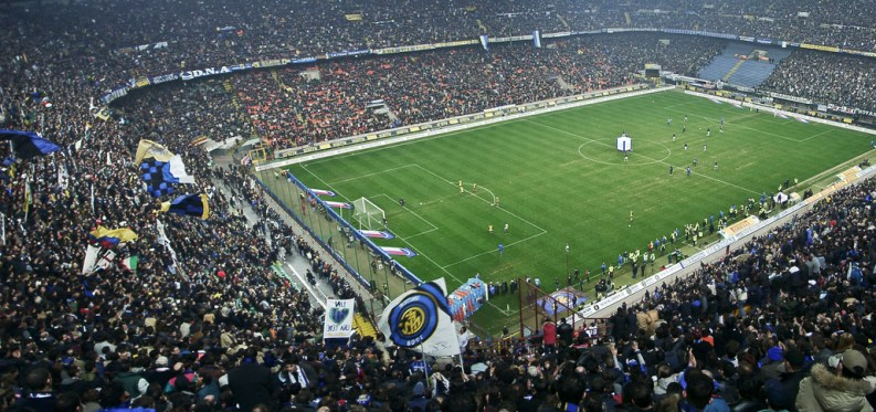 Meazza stadium in Milan, Italy
