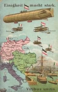 La Triplice Alleanza in una cartolina postale tedesca