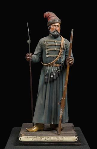 Vassily Gazemberger, statuette di tiratore del reggimento Stepan Ianov, 1860.