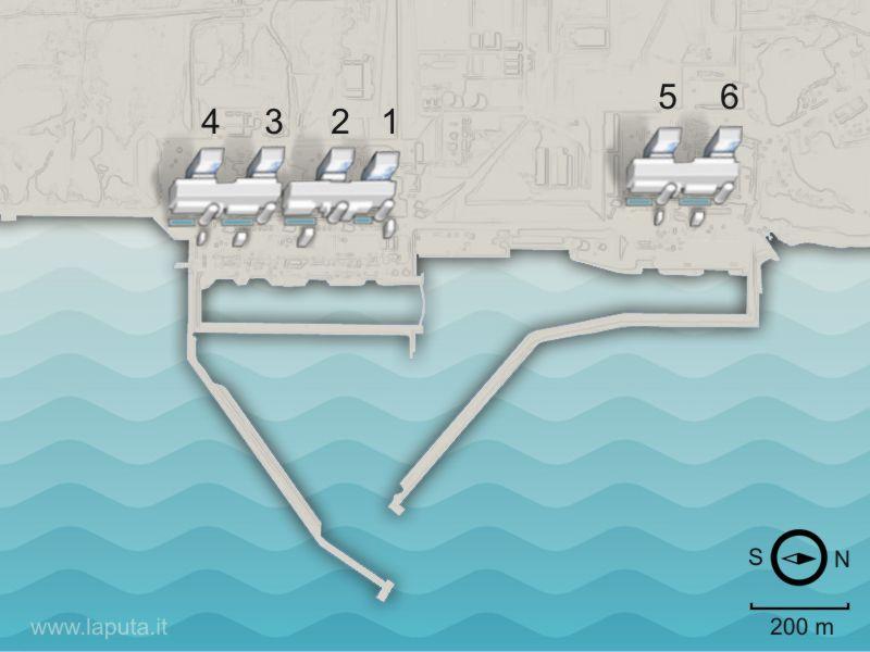 Pianta disposizione dei reattori a Fukushima 1