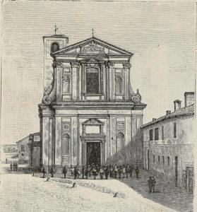 Chiesa dell Bicocca, Novara: incisione del 1890.