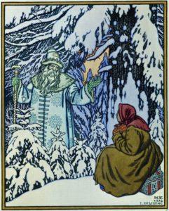 Morozko e la fanciulla di neve, illustrazione di Ivan Bilibin (1932)