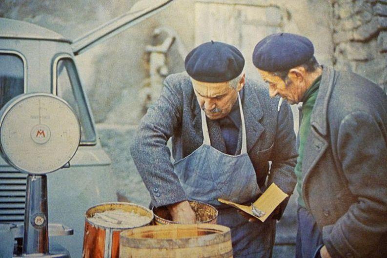 Acciugaio in Valle Maira, 1971