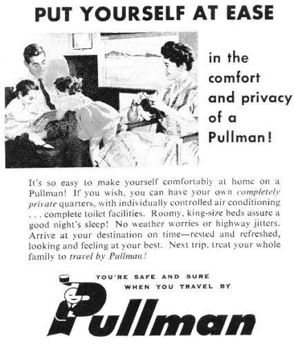 Pubblicità Pullman del 1962.