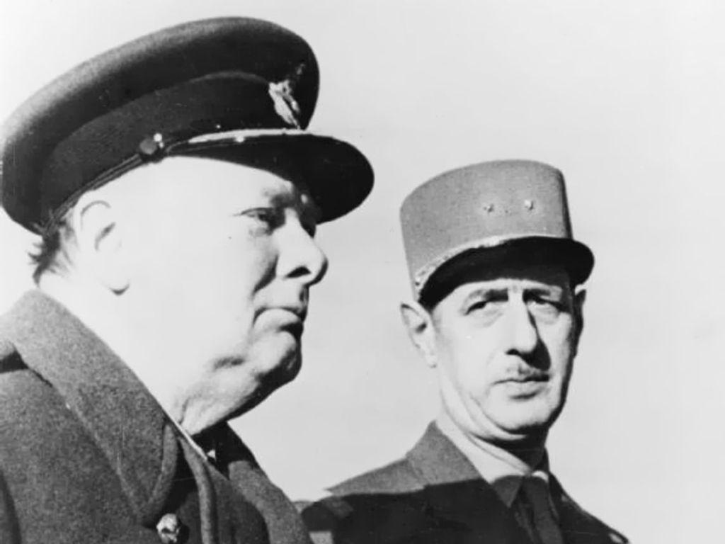 Winston Churchill e Charles de Gaulle