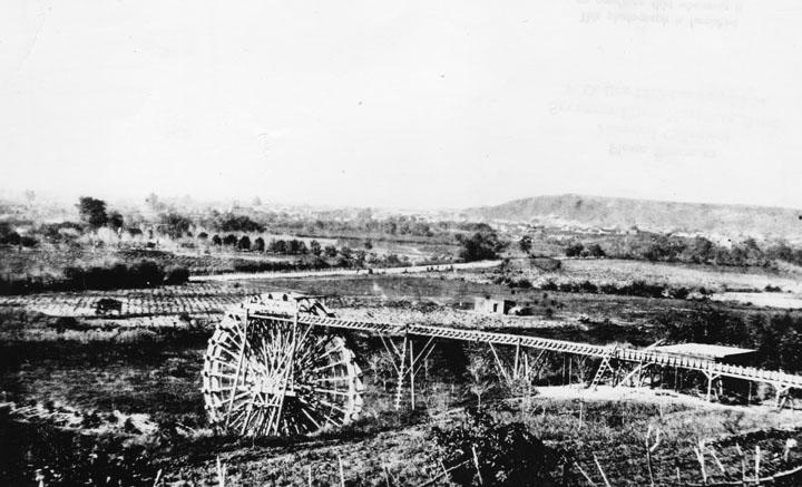 Noria di Los Angeles, foto del 1863