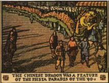 The chinese dragon was a feature of the fiesta parades of the 90s