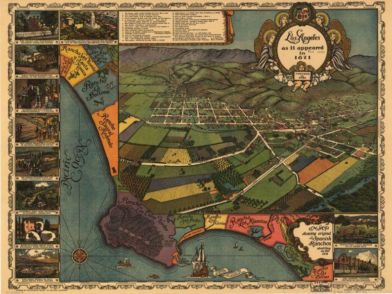 Los Angeles as it appeared in 1871