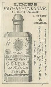 pubblicità di un'acqua di Colonia, 1891