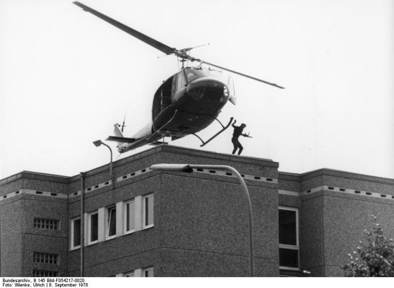 addestramento GSG-9 ad Hangelar, nel 1978
