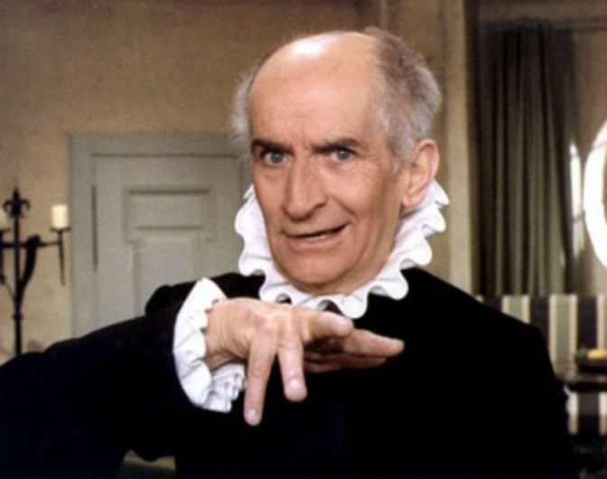 "Louis de Funès interpreta Arpagone nel film ""L'Avare"" (1980)"