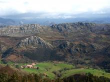 From Pienzu, walking route
