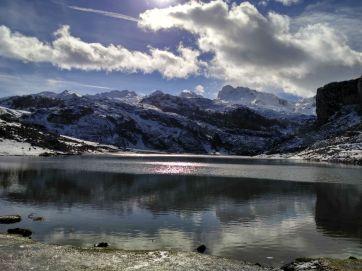 El Lago Ercina en la Montaña de Covadonga