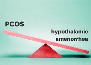 when PCOS becomes hypothalamic amenorrhea