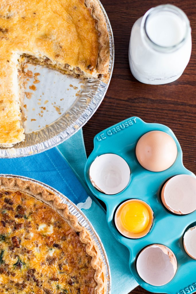 lighter breakfast quiche