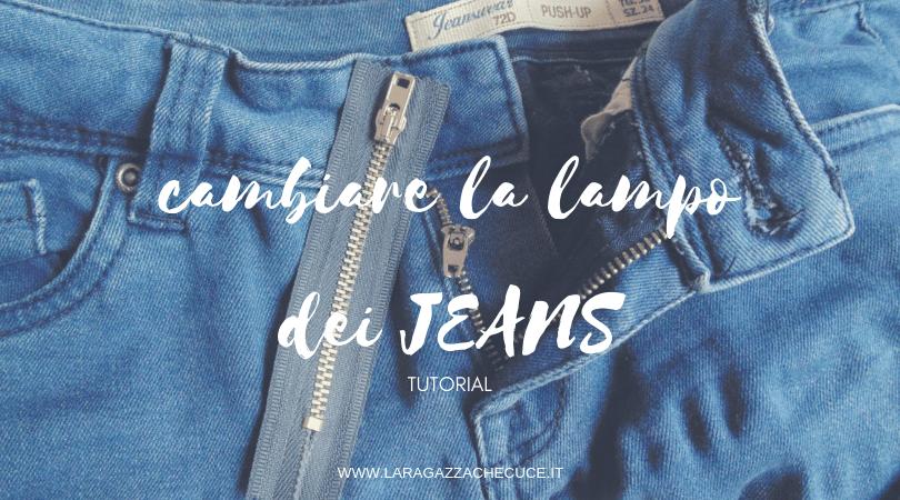 come cambiare la cerniera lampo dei jeans