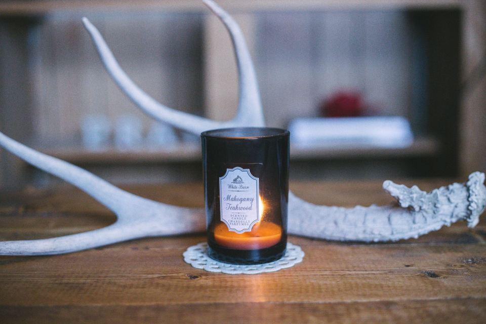 candela profumata corna di cervo