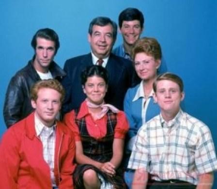 Il cast di Happy Days in una foto promozionale