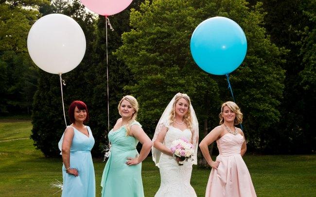 bridesmaids wedding portrait