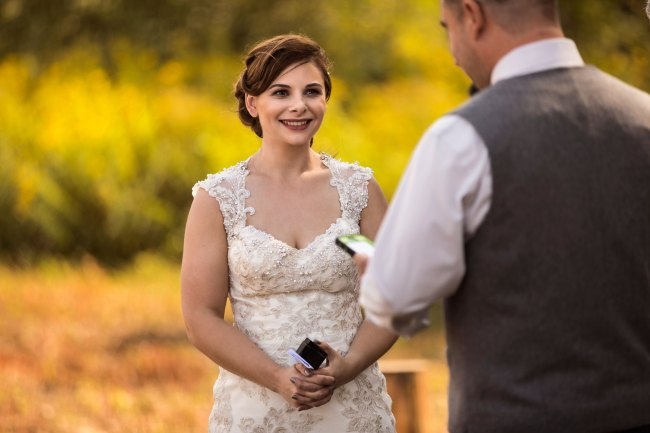Wedding vows at Bunnell Farm in Litchfield