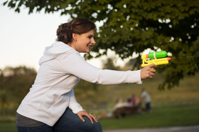 Litchfield wedding water gun fight