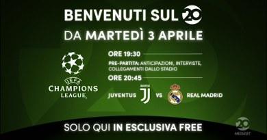 Tv. Mediaset accende il canale 20: si parte con Juve-Real