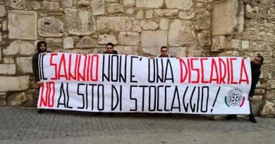 Compostaggio a Sassinoro, protesta di CasaPound Benevento