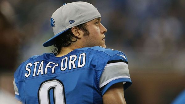Lions QB #9 Matthew Stafford photo credit: Leon Halip / Getty Images