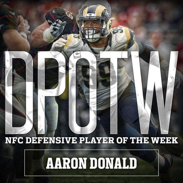 DT #99 Aaron Donald DPOTW image credit: www.facebook.com/Rams)