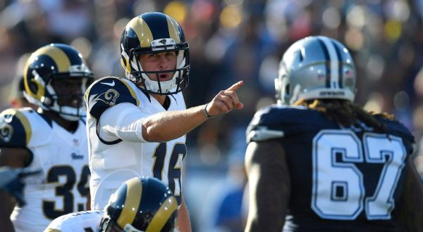 QB #16 Jared Goff (photo credit: Mark J. Terrill / AP)